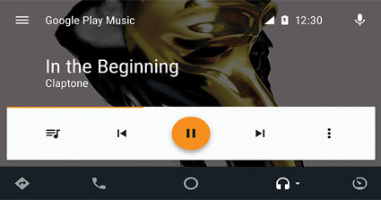 Android Auto KW-M745DBT Google Music / Spotify