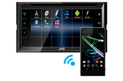 Bluetooth music streaming JVC KW-V820BT